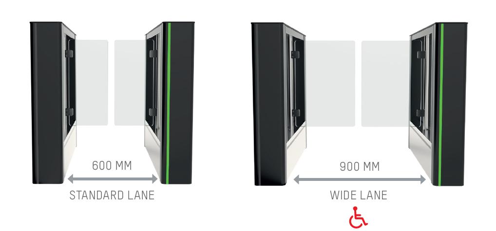 FirstLane speedgate passage width