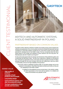 asytech and automatic systems, a solid partnership in poland