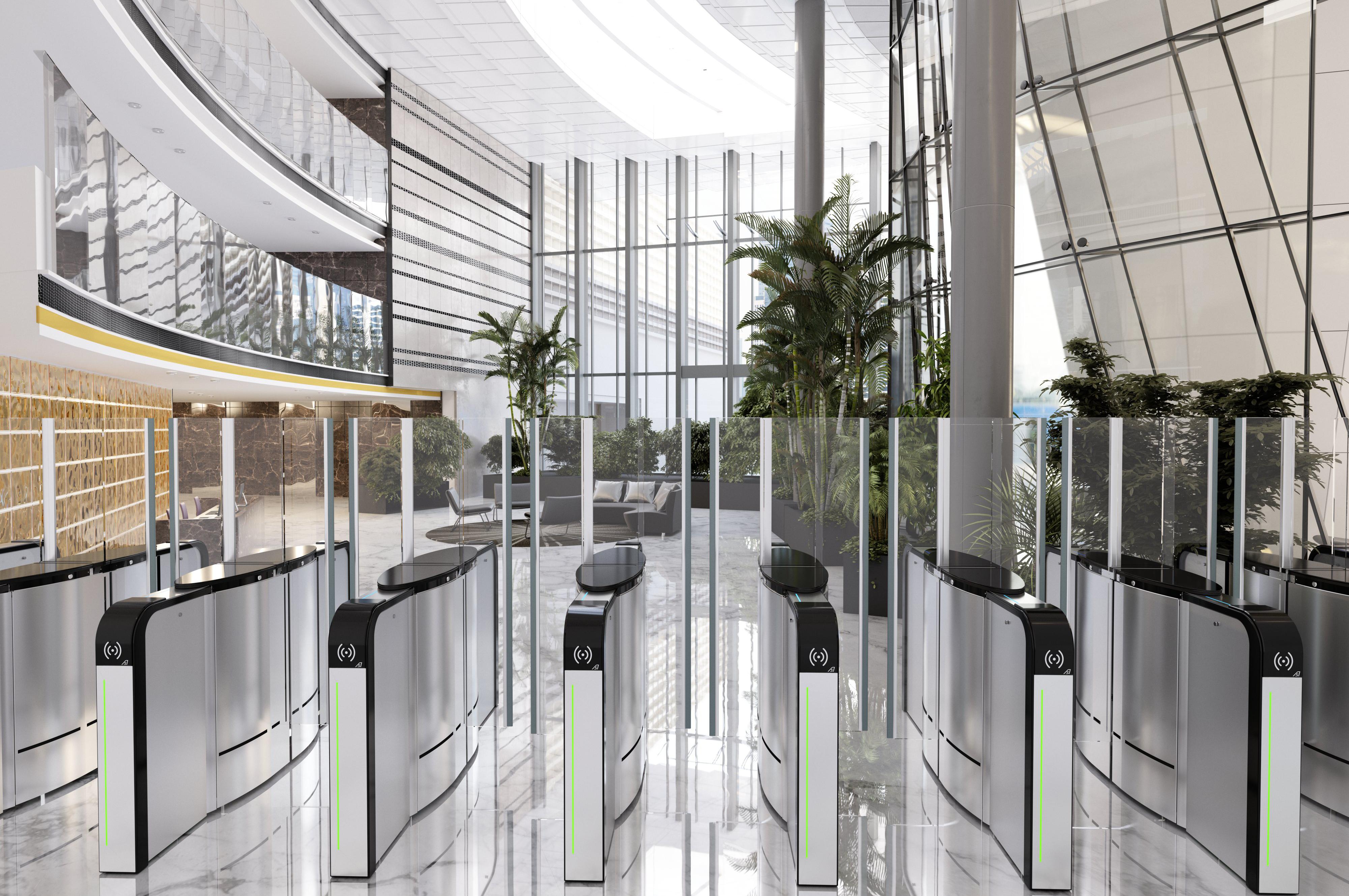 SmartLane speedgate lobby entrance